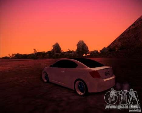 Scion tC Blue Meisters para GTA San Andreas vista posterior izquierda