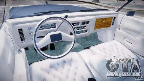 Cadillac Fleetwood Brougham 1985 para GTA 4 Vista posterior izquierda