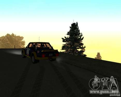 Fiat 131 Rally para la vista superior GTA San Andreas