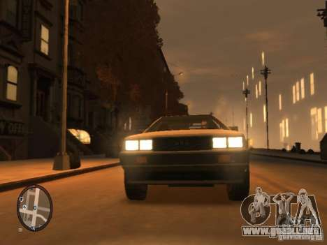 De Lorean DMC 12 para GTA 4 left