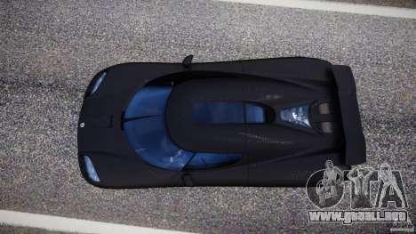 Koenigsegg CCXR Edition para GTA 4 vista hacia atrás