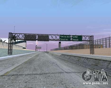 Carretera signos v1.2 para GTA San Andreas segunda pantalla