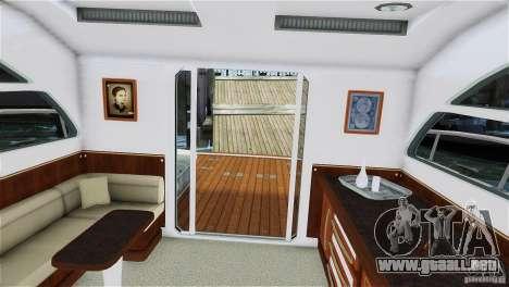Luxury Yacht para GTA 4 Vista posterior izquierda
