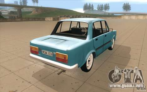 Fiat 125p para vista lateral GTA San Andreas