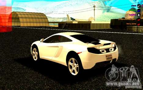 McLaren MP4-12C 2011 para GTA San Andreas left
