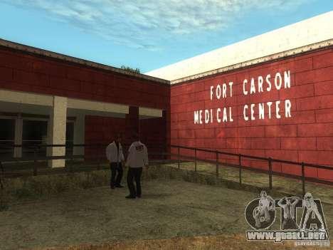 Renovación del hospital en Fort Carson para GTA San Andreas tercera pantalla