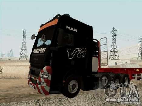 MAN TGX 8x4 para la visión correcta GTA San Andreas