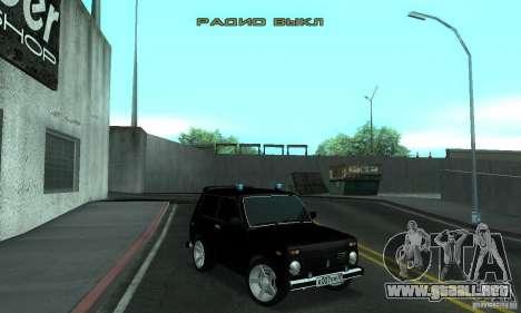 FBI NIVA VAZ 21213 para GTA San Andreas
