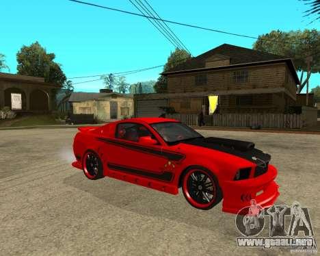 Ford Mustang Red Mist Mobile para la visión correcta GTA San Andreas