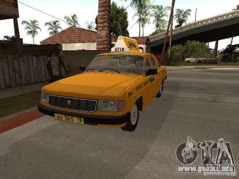 Volga GAZ 31029 Taxi para la visión correcta GTA San Andreas