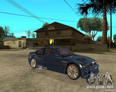 BMW M3 GTR de Need for Speed Most Wanted para la visión correcta GTA San Andreas