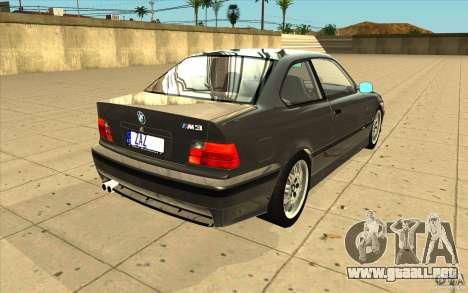 BMW E36 M3 - Stock para vista lateral GTA San Andreas