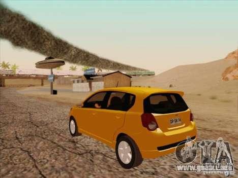 Chevrolet Aveo LT para GTA San Andreas vista posterior izquierda