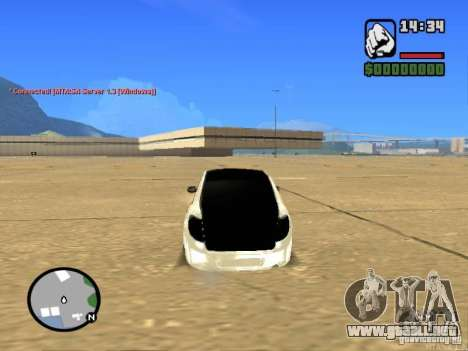 Estilo VAZ 2190 Grant JDM para GTA San Andreas vista posterior izquierda