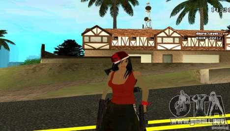 Chicano Chick Skin para GTA San Andreas segunda pantalla