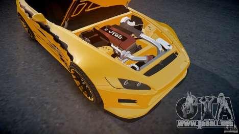 Calma Honda S2000 Tuning 2002 3 piel para GTA 4 interior