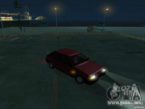 VAZ 2108 drenaje para GTA San Andreas vista hacia atrás