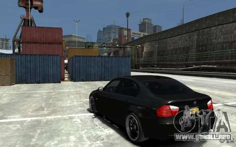 BMW 330i E60 Tuned 1 para GTA 4 Vista posterior izquierda