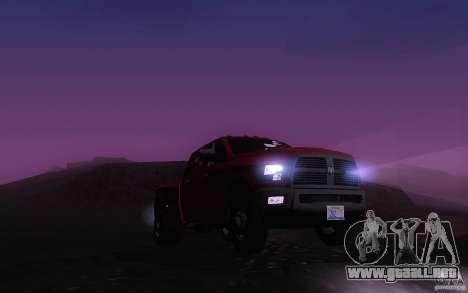 Dodge Ram 3500 Laramie 2010 para visión interna GTA San Andreas