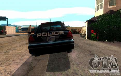 Ford Crown Victoria para GTA San Andreas vista hacia atrás