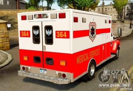 GMC C5500 Topkick Ambulance para GTA 4 Vista posterior izquierda