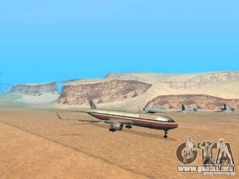 Boeing 767-300 American Airlines para GTA San Andreas left