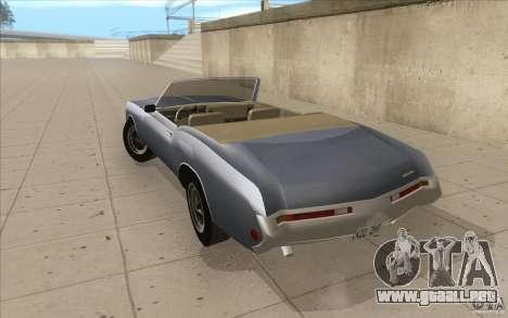Buick Riviera GS 1969 para GTA San Andreas vista posterior izquierda
