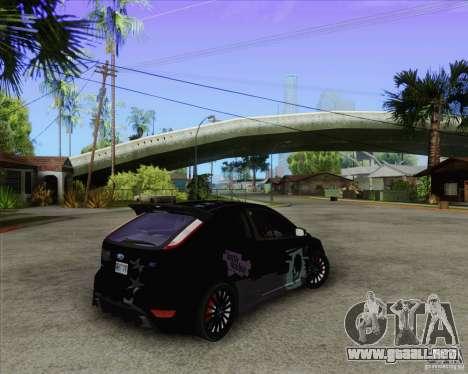 Ford Focus RS para GTA San Andreas vista hacia atrás