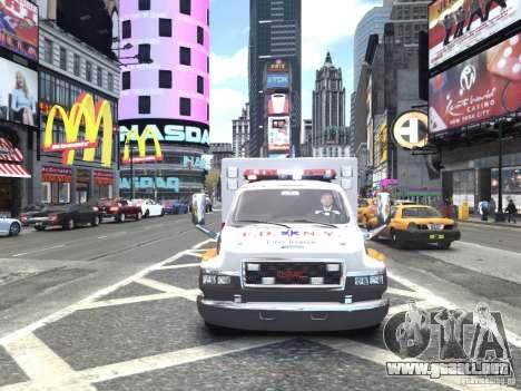 GMC C4500 Ambulance [ELS] para GTA 4 vista hacia atrás