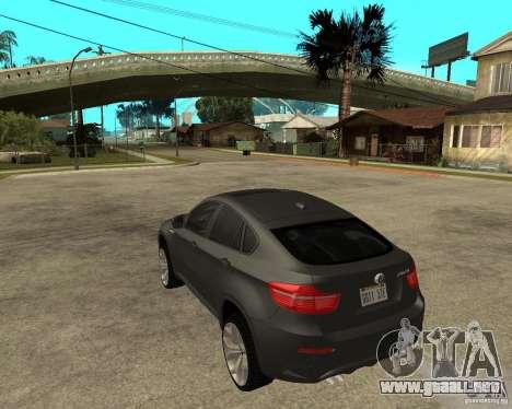 BMW X6 M para GTA San Andreas left