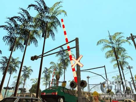 FERROCARRIL cruzando RUS para GTA San Andreas sucesivamente de pantalla