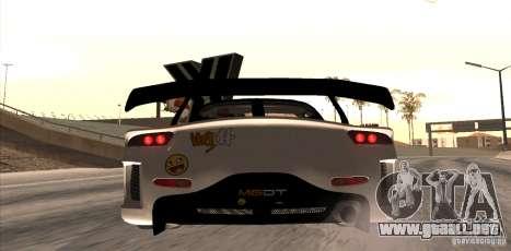 Mazda RX-7 MyGame Drift Team para GTA San Andreas vista posterior izquierda