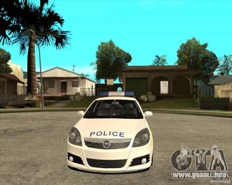 2005 Opel Vectra Police para GTA San Andreas vista hacia atrás