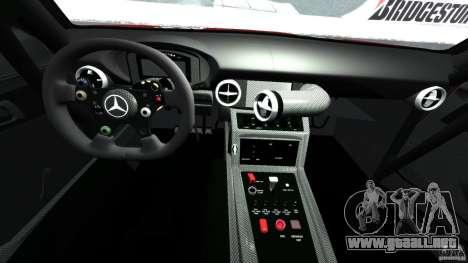 Mercedes-Benz SLS AMG GT3 2011 v1.0 para GTA 4 vista hacia atrás