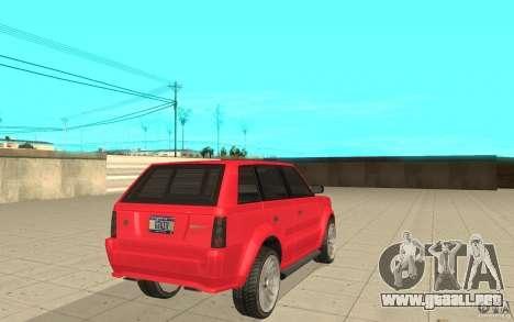 Huntley Sport de GTA 4 para GTA San Andreas vista posterior izquierda