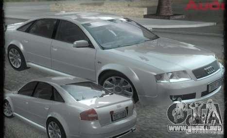 Audi RS6 (A6) para GTA San Andreas vista hacia atrás