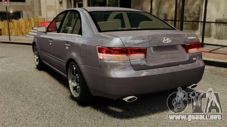 Hyundai Sonata 2008 para GTA 4 Vista posterior izquierda