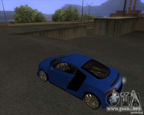 Audi R8 5.2 FSI para GTA San Andreas left