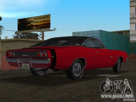 Dodge Charger 426 R/T 1968 v1.0 para GTA Vice City left