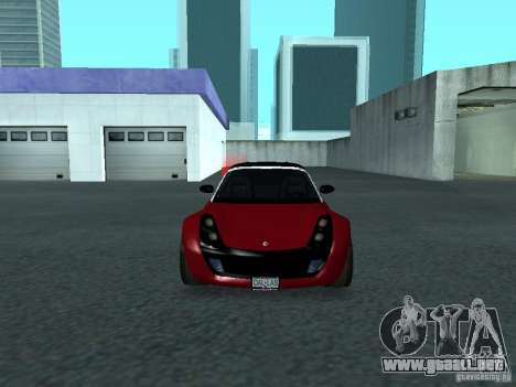 Smart Roadster Coupe para vista lateral GTA San Andreas