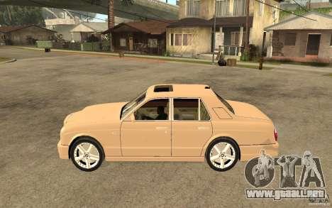 Bentley Arnage para GTA San Andreas left