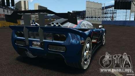 McLaren F1 ELITE para GTA 4 Vista posterior izquierda