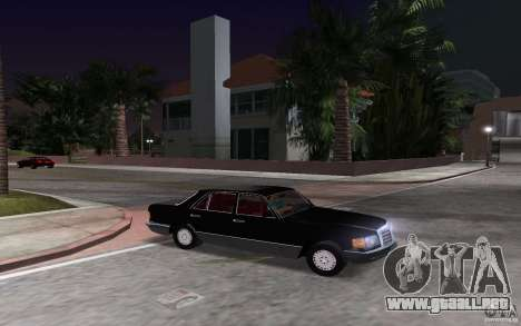 Mercedes-Benz W126 500SE para GTA Vice City vista posterior