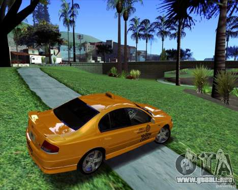 Ford Falcon XR8 Taxi para GTA San Andreas left