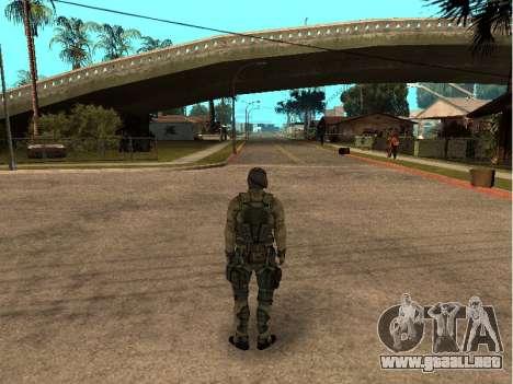 El ingeniero del ejército de piel para GTA San Andreas segunda pantalla