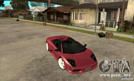 Lamborghini Murcielago Roadster Final para GTA San Andreas vista hacia atrás