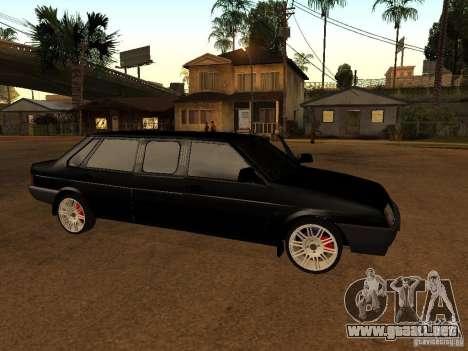 VAZ 21099 Limousine para GTA San Andreas vista posterior izquierda