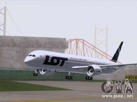 Boeing 787-9 LOT Polish Airlines para la visión correcta GTA San Andreas