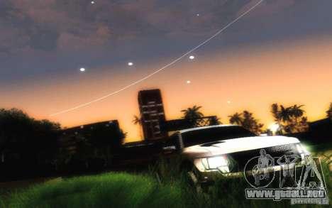Ford Raptor Crewcab 2012 para GTA San Andreas vista hacia atrás