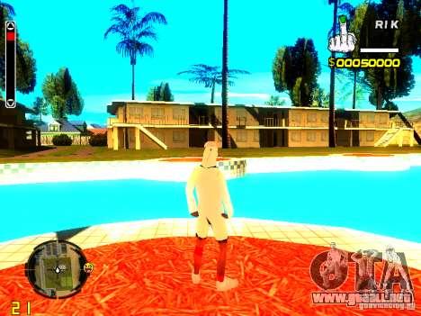 Piel vago v9 para GTA San Andreas sucesivamente de pantalla